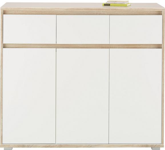 Komoda Pluto - bela/hrast sonoma, Moderno, leseni material (118/103/48cm) - Mömax modern living