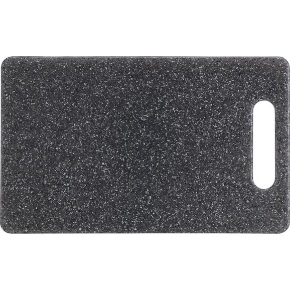 Schneidebrett Stone aus Kunststoff - Grau, Kunststoff (24,8/15,1/0,8cm) - Mömax modern living