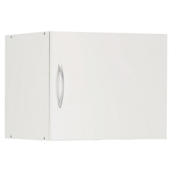 Aufsatzschrank in Weiß - Alufarben/Weiß, Holzwerkstoff/Kunststoff (50/40/40cm) - Mömax modern living