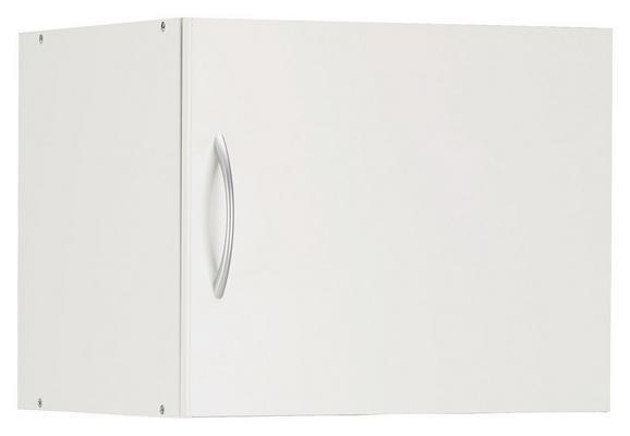 Aufsatzschrank Weiß - Alufarben/Weiß, Holzwerkstoff/Kunststoff (50/40/40cm) - Mömax modern living