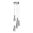 Hängeleuchte max. 40 Watt 'Illya' - Grau, MODERN, Metall (32/130cm) - Bessagi Home