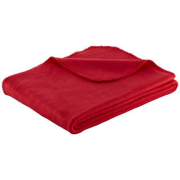 Pătură Fleece Beatrix - roșu, textil (130/160cm) - Based