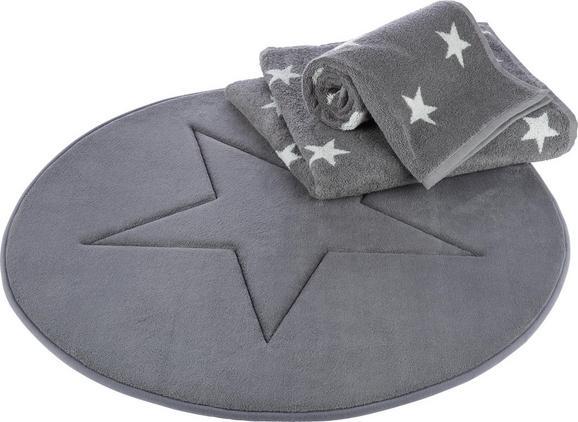 Badematte Star Grau - Grau, Textil (70/70cm) - MÖMAX modern living