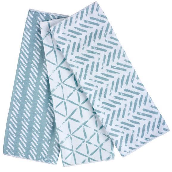Set Prosoape De Bucătărie Mike - turcoaz/albastru închis, Modern, textil (40/60cm) - Modern Living