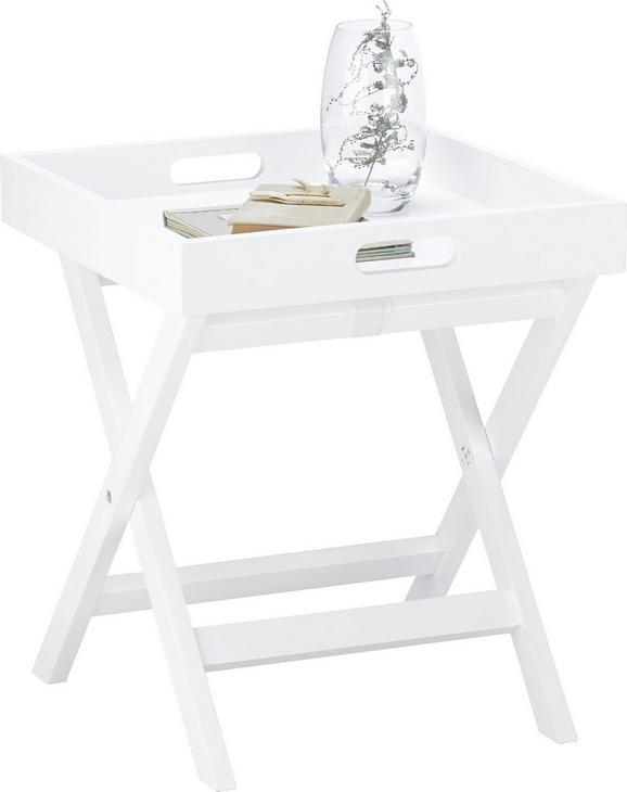 Beistelltisch Eddie 40x40cm - Weiß, MODERN (40/40/45cm) - MÖMAX modern living