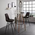 Bartisch aus Bambus Massiv - Schwarz/Naturfarben, MODERN, Holz/Holzwerkstoff (80/111cm) - Modern Living