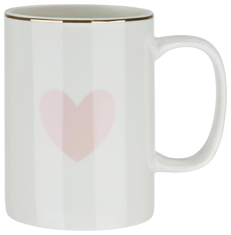 Lonček Za Kavo Bibi - roza/bela, Romantika, keramika (7,9/10,8cm) - MÖMAX modern living
