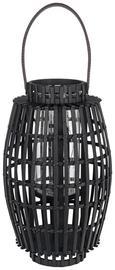 Laterna Kiara - črna/temno rjava, Trendi, steklo/les (21/36cm) - Mömax modern living