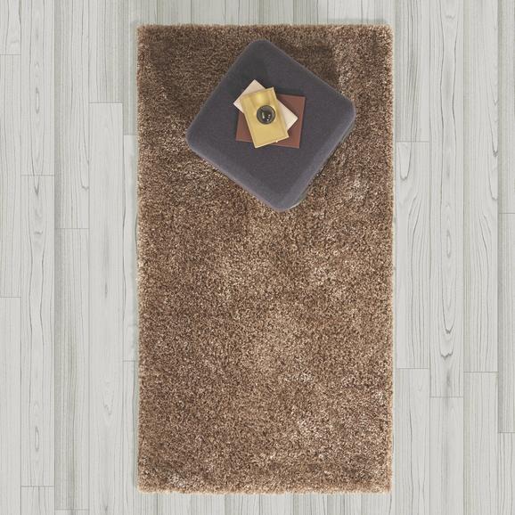 Teppich Hochflor Shaggy ca. 80x150 cm - Braun, MODERN, Textil (80/150cm) - Bessagi Home