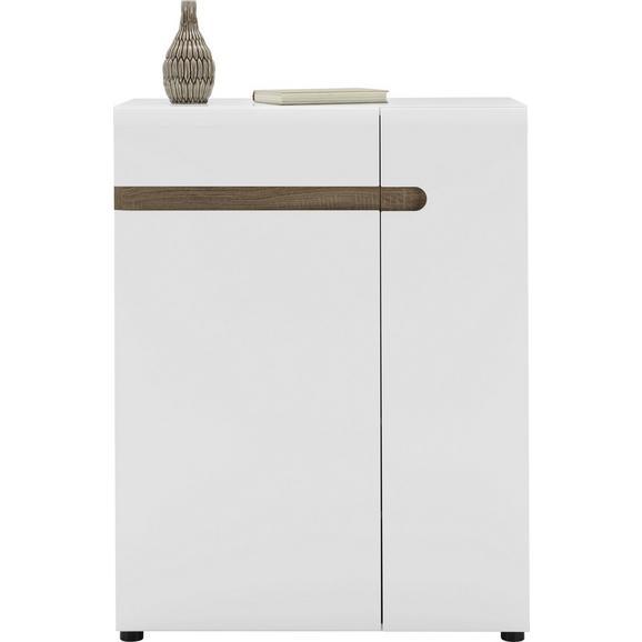 Omara Za Čevlje Linate - jelša/bela, Moderno, leseni material (85/111/42cm) - Mömax modern living