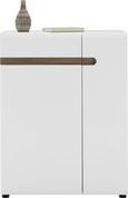 Schuhschrank in Weiß/Eichefarben - Eichefarben/Erlefarben, MODERN, Holzwerkstoff (85/111/42cm) - Mömax modern living