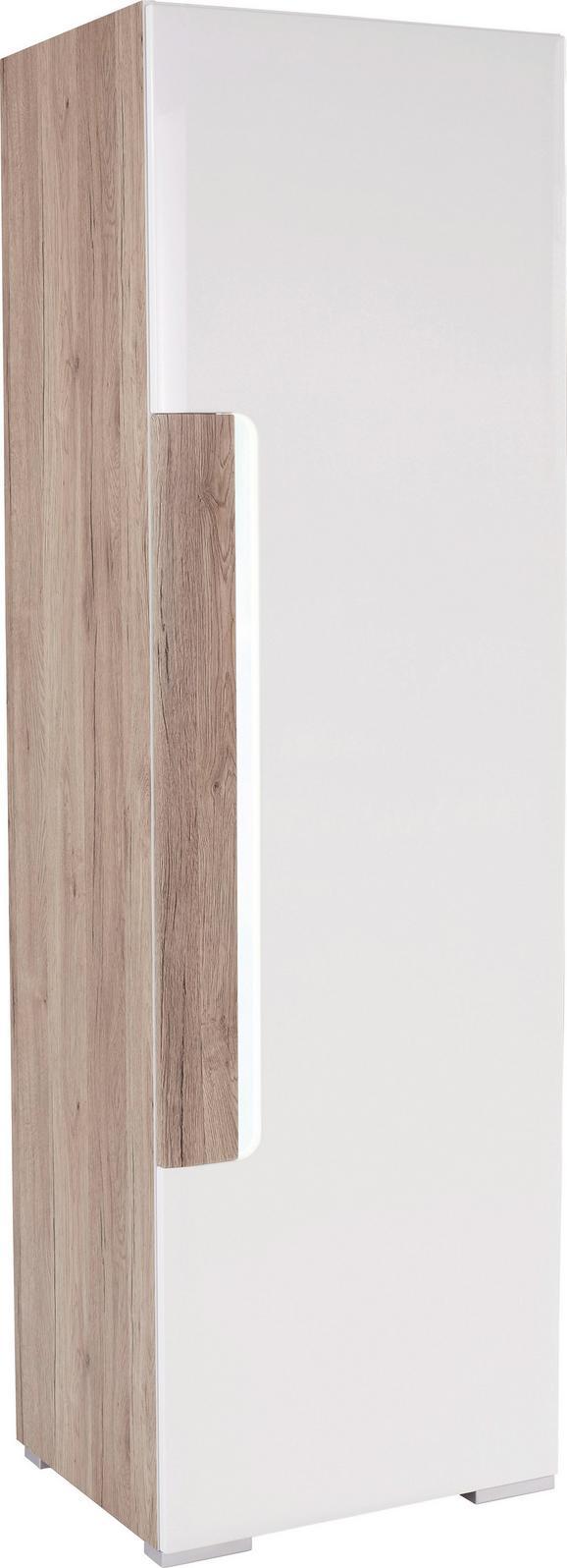 Omara Toronto - bela/hrast, Moderno, leseni material (57,9/196/42,2cm) - MÖMAX modern living