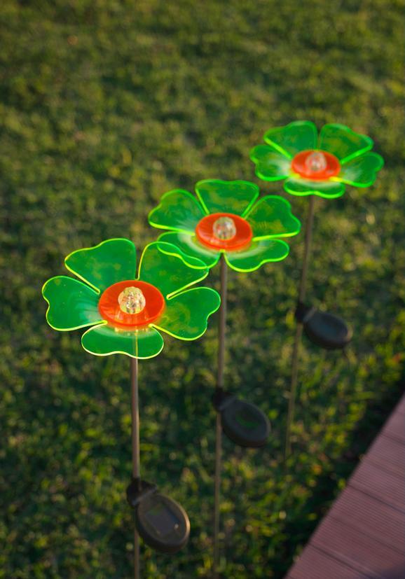 Solarna Svetilka Flower - črna/zelena, kovina/umetna masa (18/95cm) - Mömax modern living