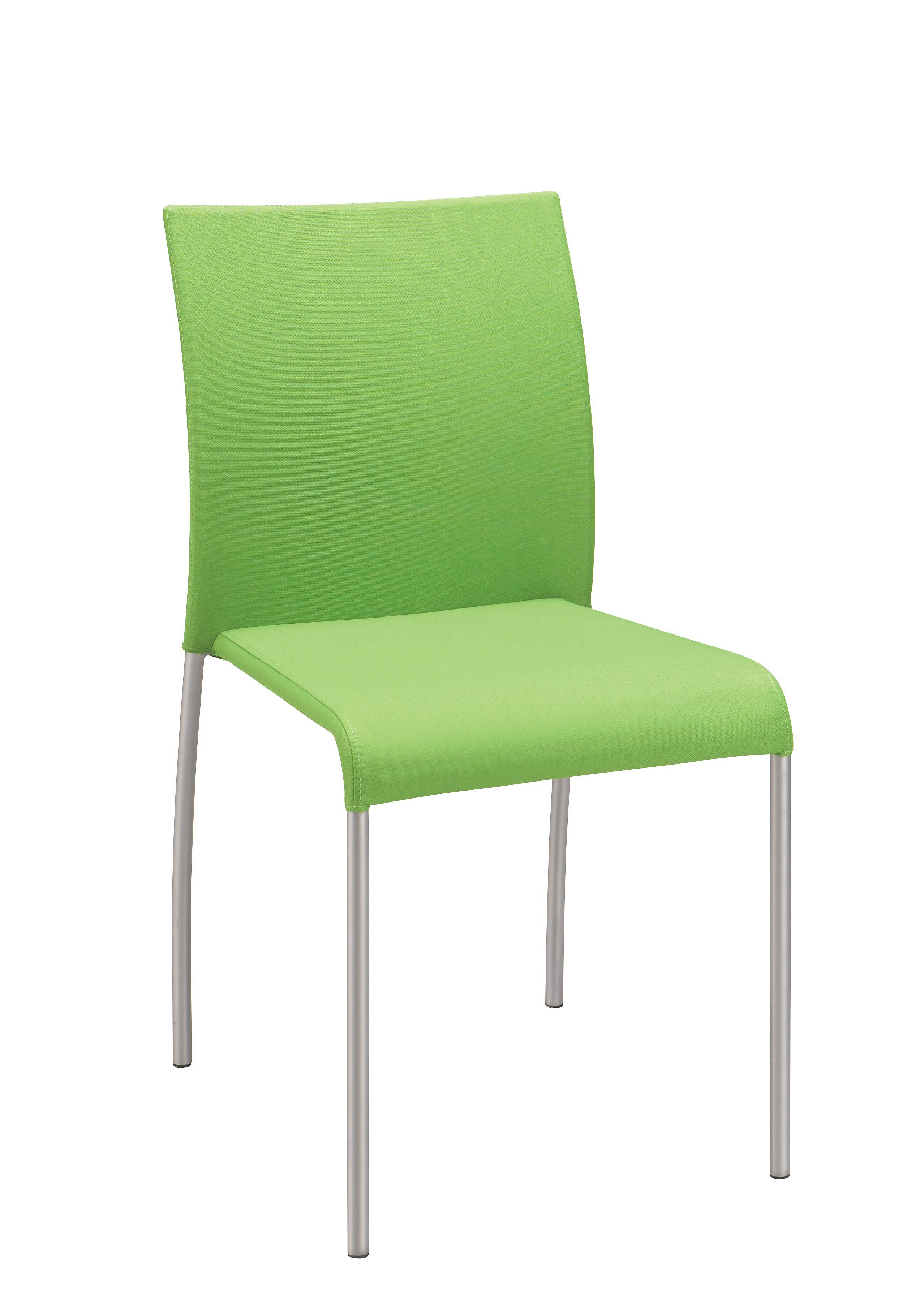 Stol Günther - zelena/barve aluminija, Moderno, kovina/tekstil (55/85/45cm) - MÖMAX modern living