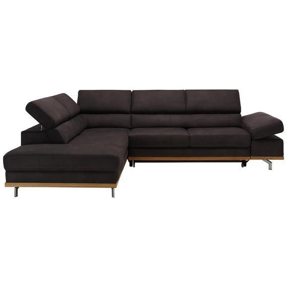 Funkcijka Sedežna Garnitura Carmen - temno siva/siva, Konvencionalno, kovina/tekstil (226/292cm) - Premium Living
