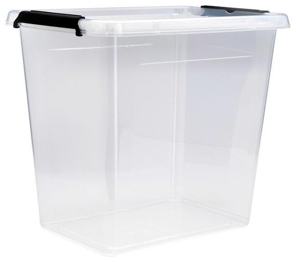 Doboz Tetővel Tina - áttetsző, műanyag (38,5/28,5/35cm) - MÖMAX modern living