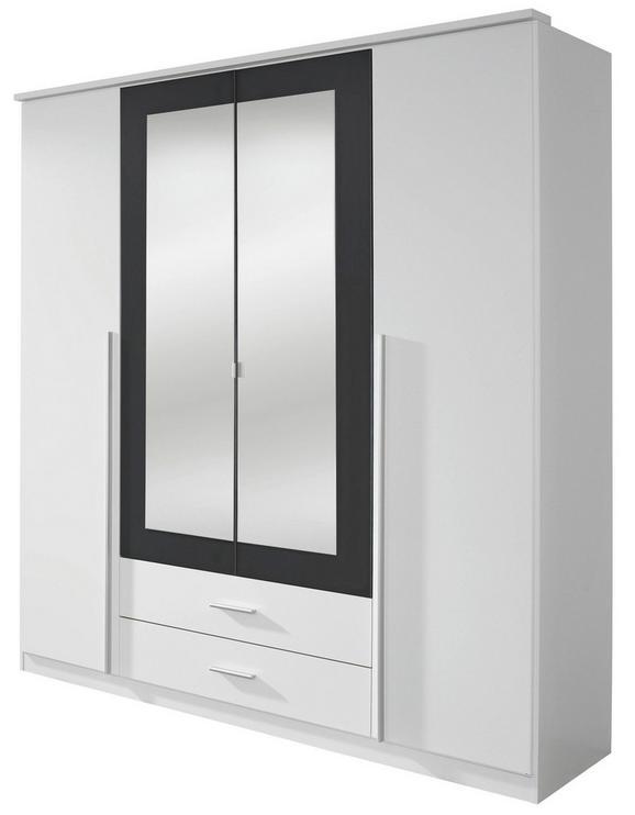 Omara S Klasičnimi Vrati Krefeld - aluminij/siva, umetna masa/steklo (181/199/56cm) - Mömax modern living