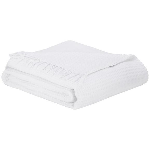 Pătură Alice - alb, Romantik / Landhaus, textil (150/180cm) - Zandiara