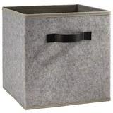 Box Rikka in Grau ca. 27x27x28 cm - Grau, MODERN, Textil (27/27/28cm) - Bessagi Home