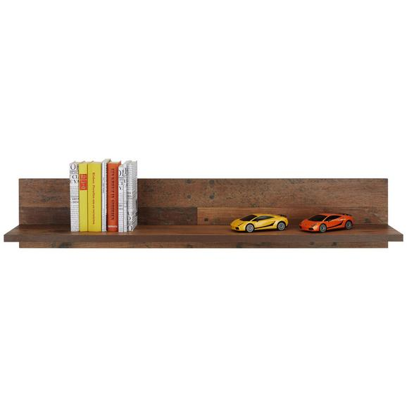 Stenska Polica Baghira - rjava, Moderno, leseni material (120/22,8/21,9cm) - Premium Living