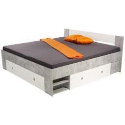 Postelja Azzuro 180 - bela/svetlo siva, Moderno, leseni material (204/75/185cm)
