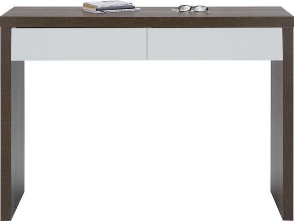 Wandkonsole in Weiß/Eichefarben - Eichefarben/Weiß, MODERN, Holzwerkstoff (120/83/40cm)