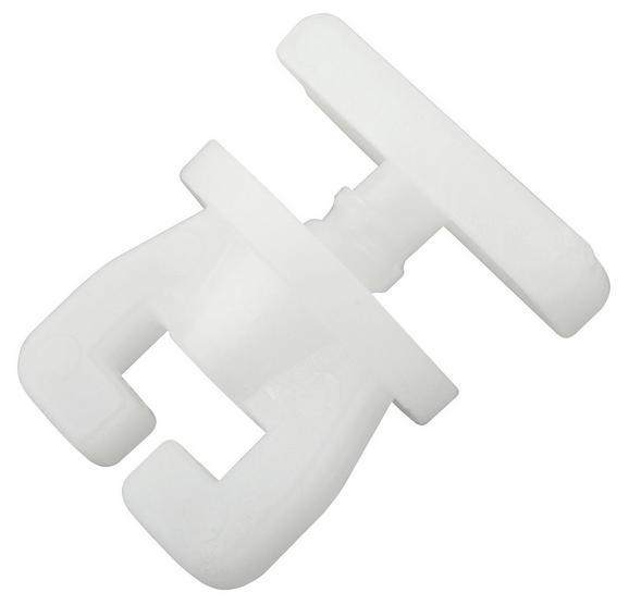 Vorhangschienenzubehör Amelie in Weiß, 4er Pack. - Weiß, Kunststoff (1,5/1,4/1,4cm) - Mömax modern living