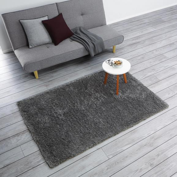 Teppich Hochflor Shaggy ca.120x170 cm - Dunkelgrau, MODERN, Textil (120/170cm) - Mömax modern living