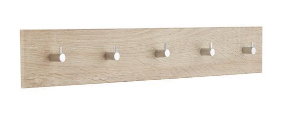 Hakenleiste Eichefarben - Eichefarben, Holz/Metall (57/8/5cm) - Mömax modern living