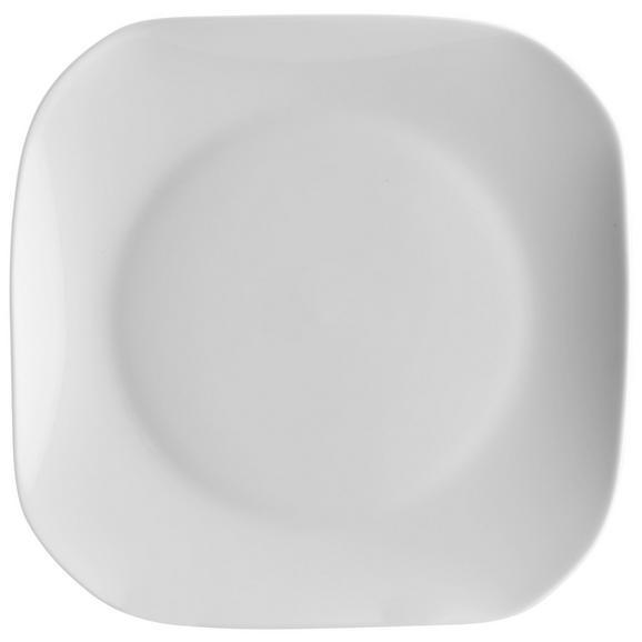 Speiseteller Sid aus Porzellan - Weiß, MODERN, Keramik (28/24,1/2,5cm) - Mömax modern living