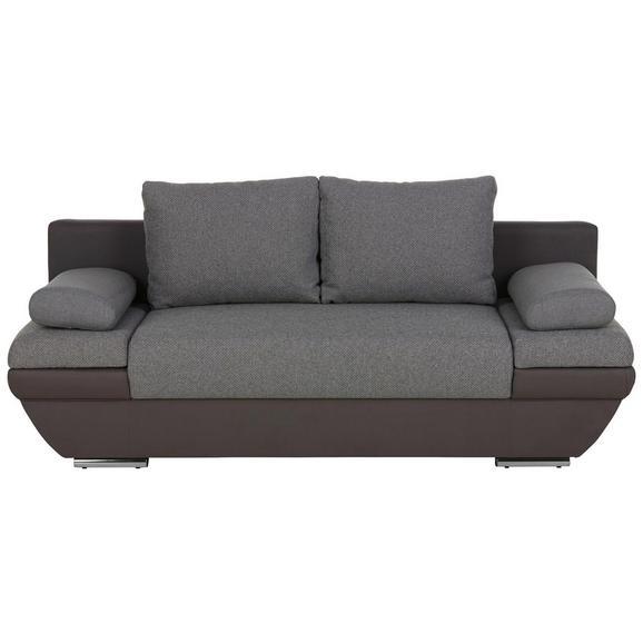 Zofa S Posteljno Funkcijo Patras - temno siva/svetlo siva, kovina/tekstil (205/76/95cm) - Modern Living