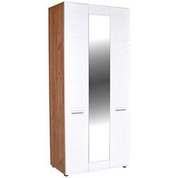 Omara Za Oblačila Avensis - aluminij/bela, Moderno, umetna masa/leseni material (100/205,7/37,1cm) - Mömax modern living