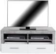 Tv-element Malta - aluminij/siva, Moderno, umetna masa/leseni material (128/50/42cm) - Mömax modern living