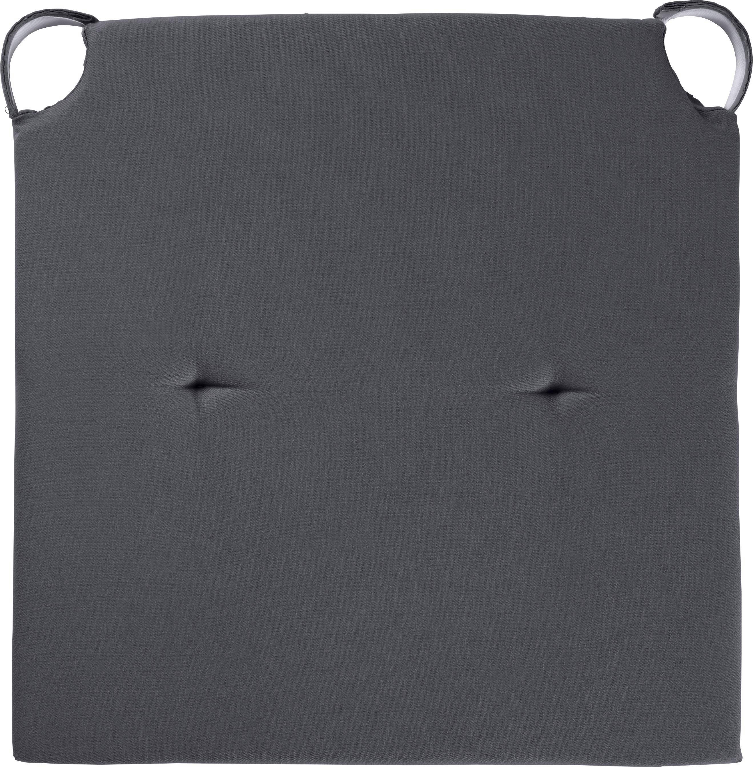 Sitzkissen Lilli 40x40cm - Dunkelgrau, KONVENTIONELL, Textil (40/40/3cm) - MÖMAX modern living