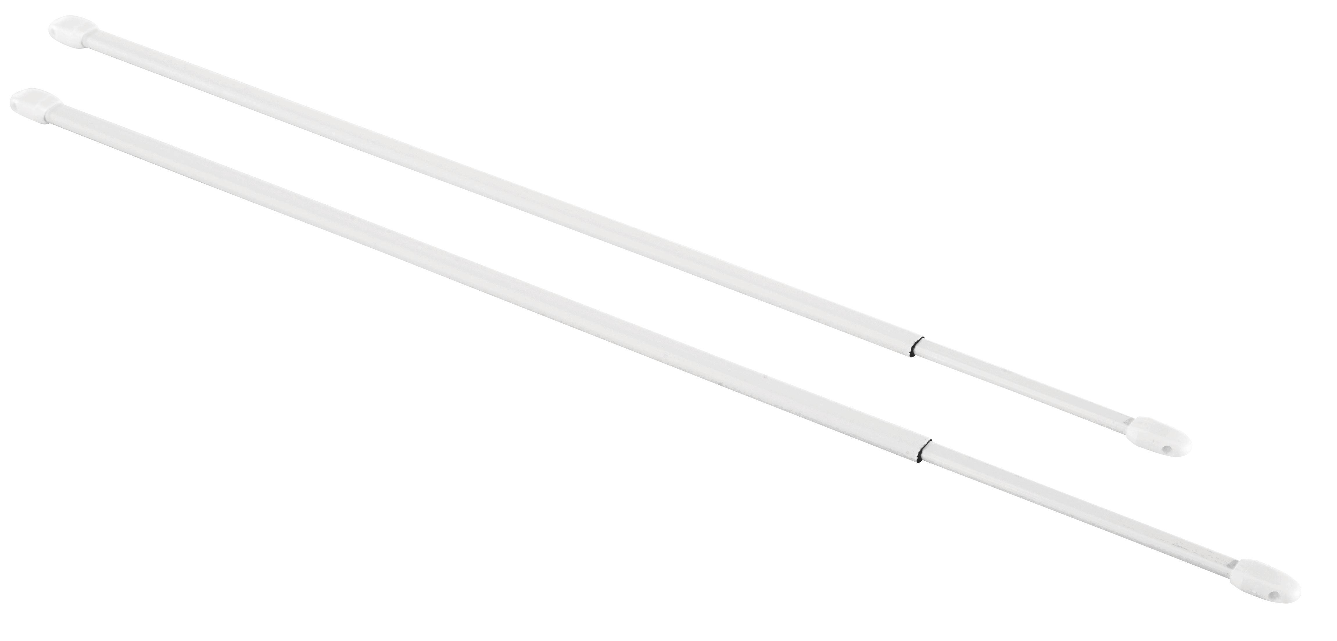 Vitragenstange Simple in Weiß, ca. 40-70cm - Weiß, Kunststoff (40-70cm) - MÖMAX modern living