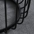 COUCHTISCH in schwarz 'Nola' - Schwarz, MODERN, Glas/Metall (58/58/50cm) - Bessagi Home