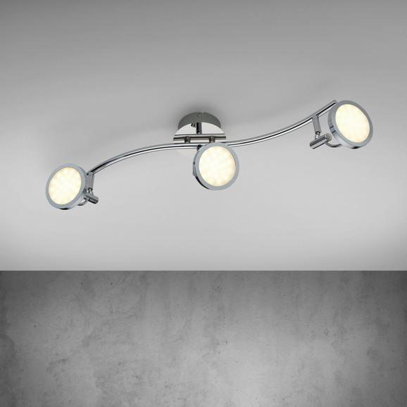 LED-Deckenleuchte Louanna - Chromfarben, MODERN, Kunststoff/Metall (53/11/20cm) - Mömax modern living