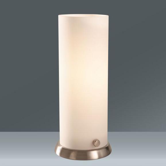 Asztali Lámpa Opálos Üvegbúra - nikkel színű/fehér, üveg/fém (9/20cm) - MÖMAX modern living