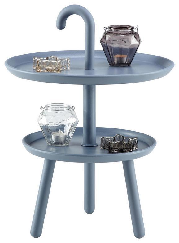 Beistelltisch in Grau/blau - Blau/Grau, MODERN, Kunststoff (42/56cm) - MÖMAX modern living