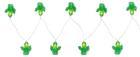 Fényfüzér Birthday - Zöld/Átlátszó, Műanyag (195cm)