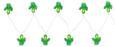Svetlobna Girlanda Birthday - zelena/prozorna, umetna masa (195cm)