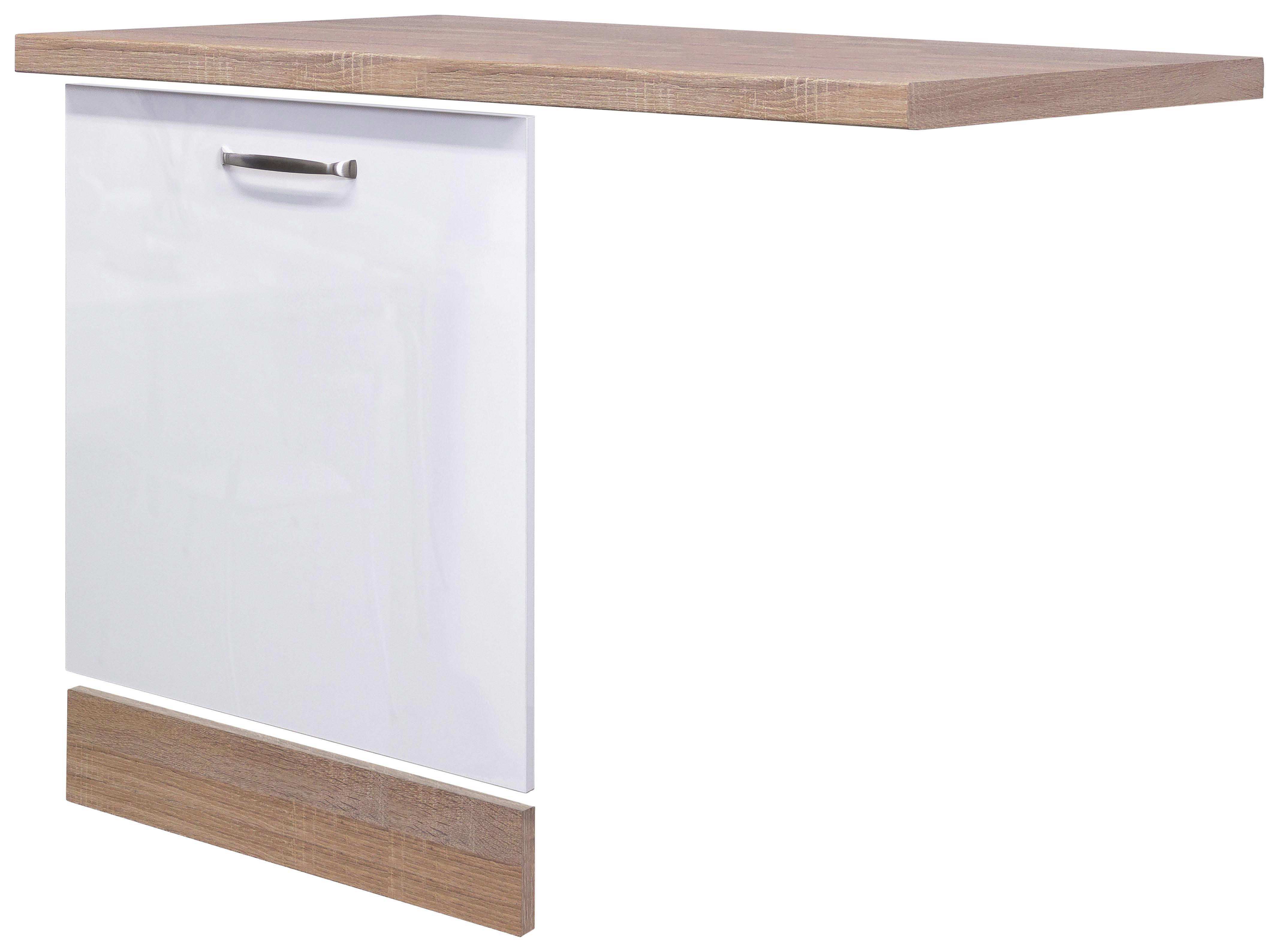 Küchenunterschrank Weiß Hochglanz/Eiche online kaufen ➤ mömax