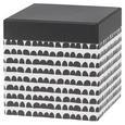 Cutie Pentru Cadouri Square - alb/negru, Modern, carton/hârtie (12/12/12cm) - modern living