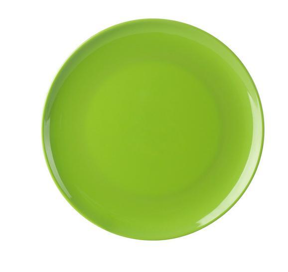 Krožnik Alisha Uni - S - zelena, umetna masa (20cm) - Mömax modern living