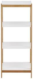 Regal Mirella - Buchefarben/Weiß, MODERN, Holz (30/95/30cm) - Modern Living