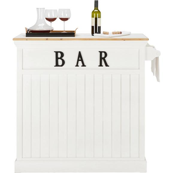 Bartisch aus Holz massiv - Weiß, ROMANTIK / LANDHAUS, Holz (106/110,5/45,5cm) - Mömax modern living