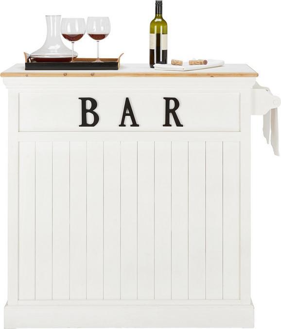 Bartisch in Weiß aus Echtholz - Weiß, ROMANTIK / LANDHAUS, Holz (106/110,5/45,5cm) - MÖMAX modern living