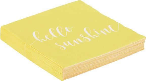 Serviette Fun aus Papier in Gelb - Gelb, Papier (16,5/16,5/2,5cm) - Mömax modern living