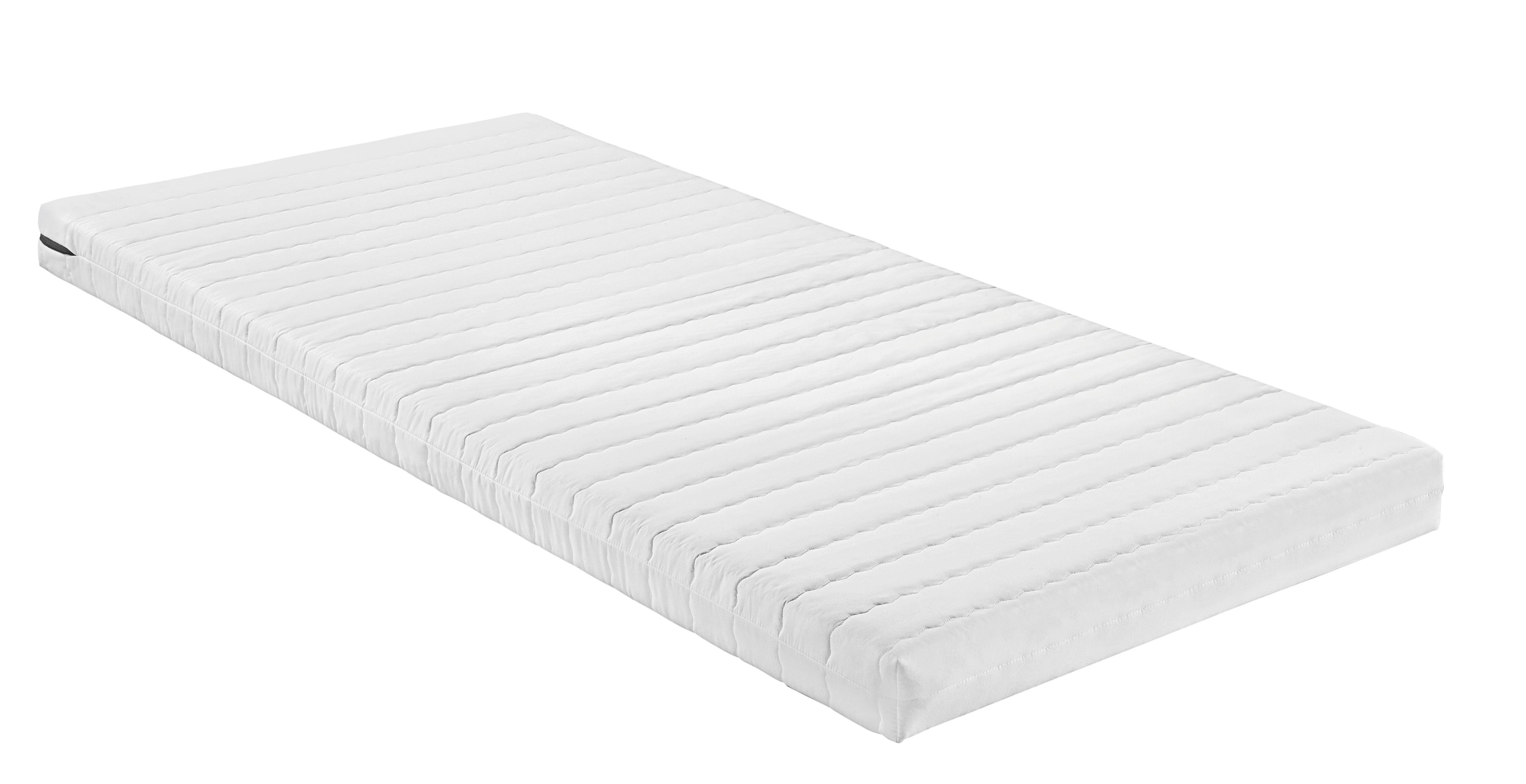 Komfortschaummatratze Schaumstoffkern ca. 90x200cm - Weiß, Textil (200/90/11cm) - NADANA