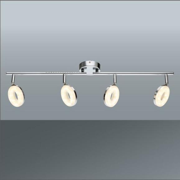 LED-Strahler Elli Chrom max. 4 Watt - Chromfarben, KONVENTIONELL, Kunststoff/Metall (40/12,5cm) - Mömax modern living